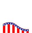 american flag wave pattern frame vector image vector image