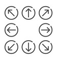 arrow flat icon set vector image