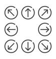 arrow flat icon set vector image
