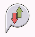 arrows up and down isolated icon vector image vector image