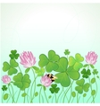 Background for StPatricks Day with clovers and vector image vector image