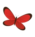 Beautiful and colorful butterfly isolated icon vector image vector image