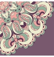 Beautiful lace pattern background vector image