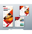 bi fold brochure design with square shapes vector image vector image