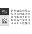 black friday icons modern line design icon set of vector image