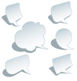 blank speech bubbles set vector image vector image