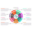 business brochure infographic with circle on vector image