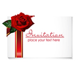 card with rose vector image vector image