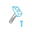 carpentry work thin line stroke icon vector image vector image