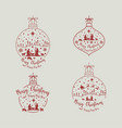 christmas cribe scene set vector image
