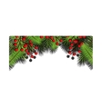 christmas season floral decoration vector image