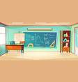 classroom for mathematics learning vector image