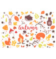 collection of colorful autumn leaves branches vector image vector image