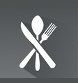 crossed fork spoon and knife icon vector image vector image