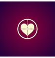 crosshair icon with a heart vector image