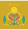 decorative abstarct card vector image vector image