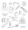 Dentistry and dental health icons vector image