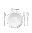 dinner service vector image