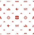 disco icons pattern seamless white background vector image vector image