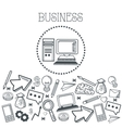 Doodle icon design business icon draw concept vector image