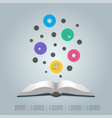 education infographics template 5 step vector image