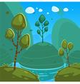 Fantasy Cartoon Landscape vector image vector image