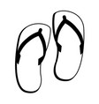 flip flop sandals icon image vector image vector image