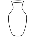 Flower vase vector image