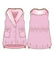 front and back sides of a vest vector image vector image
