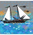 Funny Military Ship vector image vector image