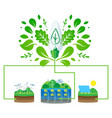 green energy concept sustainable power vector image