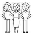 group girls characters vector image