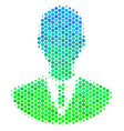 halftone blue-green manager icon vector image vector image