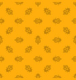 honey bee yellow seamless pattern vector image