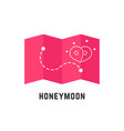 honeymoon icon with pink map pin vector image vector image