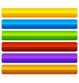 horizontal colorful vivid buttons with blank vector image vector image
