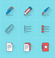 icon set in flat design style For web site design vector image