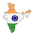 india map hand drawn sketch concept vector image vector image