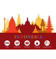 indonesia landmarks skyline with accomodation vector image vector image