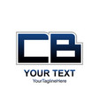 initial letter cb logo design template element vector image vector image
