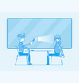 interrogation with lamp vector image