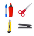 isolated object of office and supply icon vector image