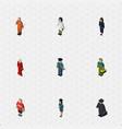 isometric human set of guy female businesswoman vector image vector image