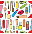 makeup items patch badges vector image vector image