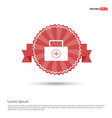 medical kit icon - red ribbon banner vector image