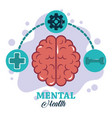 mental health day left and right brain functions vector image vector image