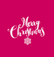 merry christmas lettering composition on red vector image