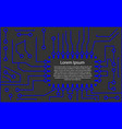 microchip 3d background vector image