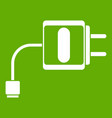mini charger icon green vector image vector image