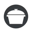 Monochrome round pan icon vector image vector image